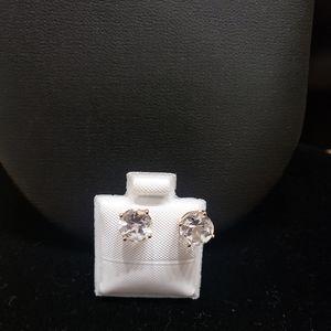 10k gold cubic zirconia earrings